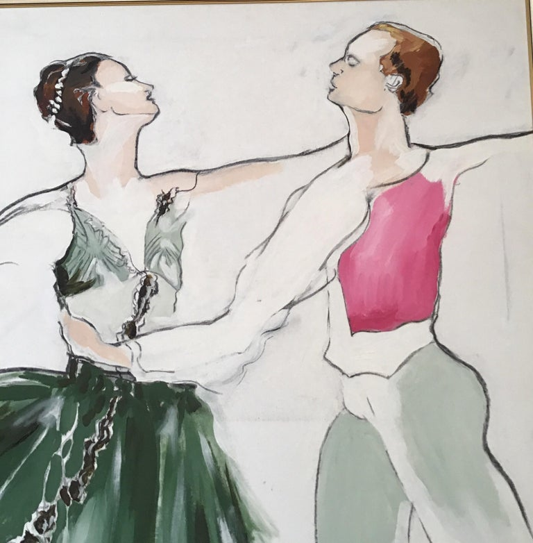 Ballet Painting Large Scale For Sale 1