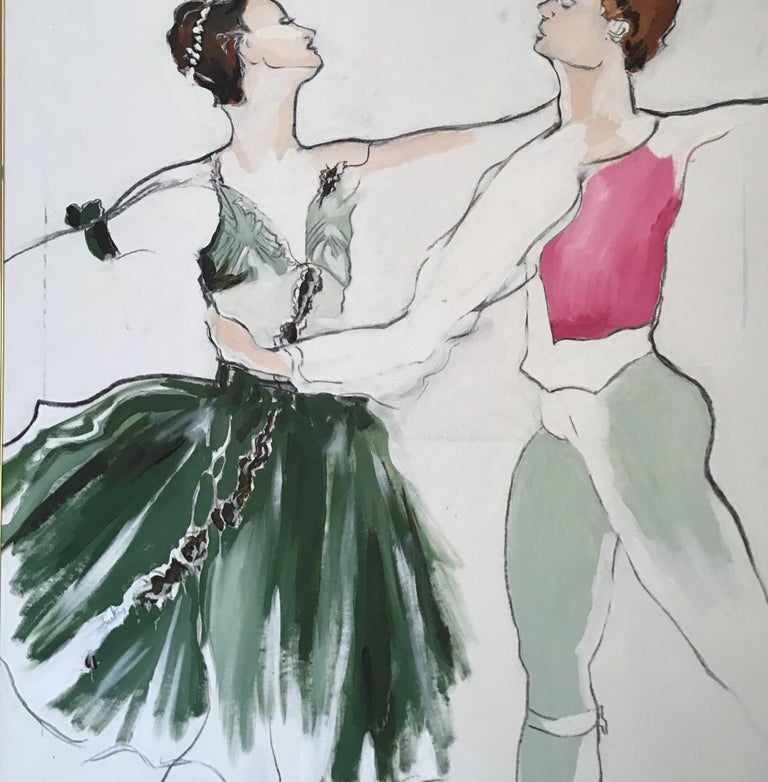 Ballet Painting Large Scale For Sale 2
