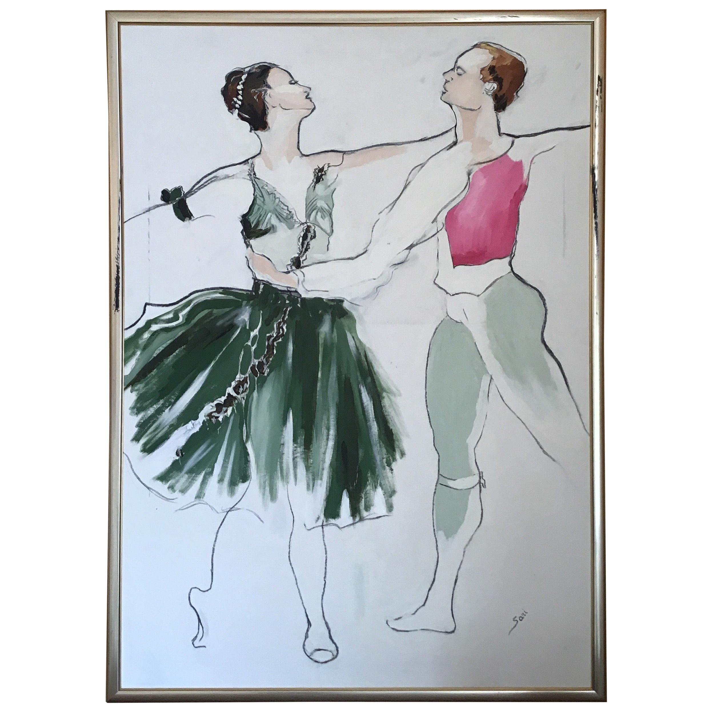 Impressionist Ballet Painting Large Scale