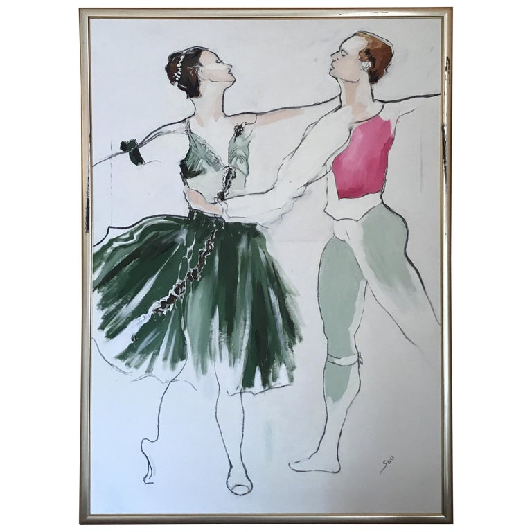 Ballet Painting Large Scale For Sale