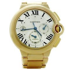 Ballon Bleu de Cartier Automatic Chronograph Extra Large Yellow Gold Watch 3107