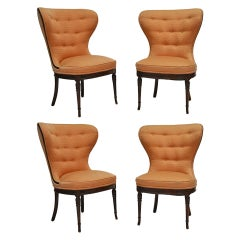 Balloon Wingback Chairs