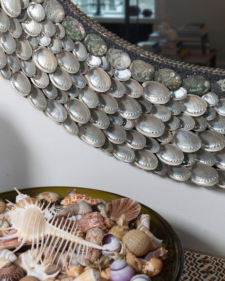 Hand-Crafted Ballroom Blitzz, Unique Shell Mirror by Shellman Scandinavia, Sweden For Sale
