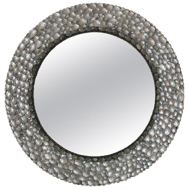 Ballroom Blitzz, Unique Shell Mirror by Shellman Scandinavia, Sweden For Sale