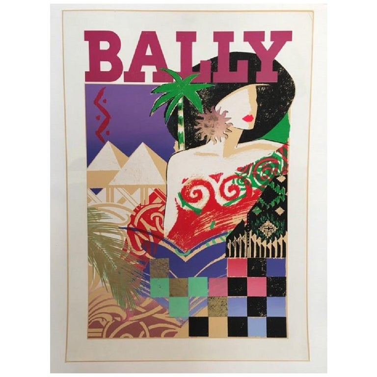 Bally 1970s Vintage Poster Original Vintage Poster For Sale