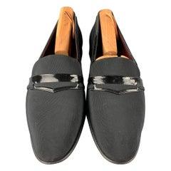 BALLY Adante Size 11 Black Silk Slip On Loafers