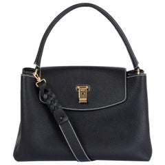 BALLY black leather LAYKA TOP HANDLE Shoulder Bag