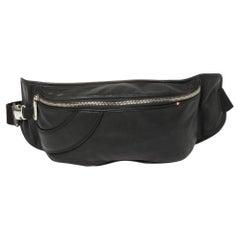 Bally Black Leather Pocket Belt Bag