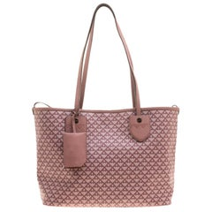 Bally Dusty Pink Printed Coated Canvas Bernina Tote