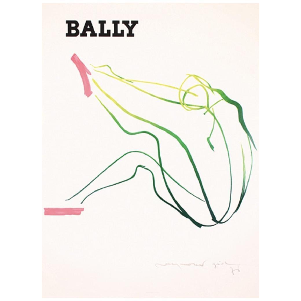 Bally Gid Femme Original Vintage Poster
