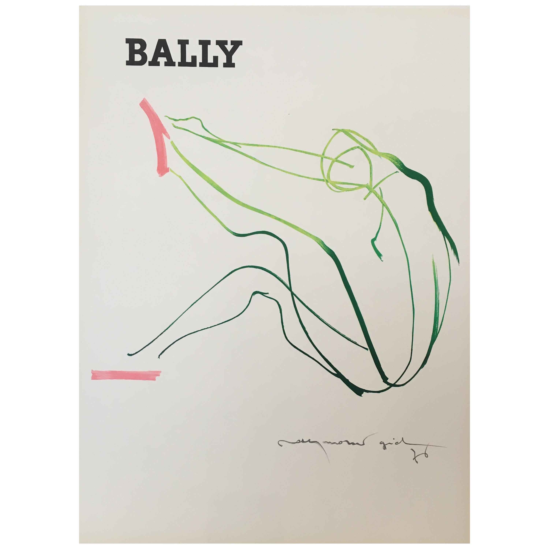 Bally Gid Femme, Small Format, Original Vintage Poster, 1976