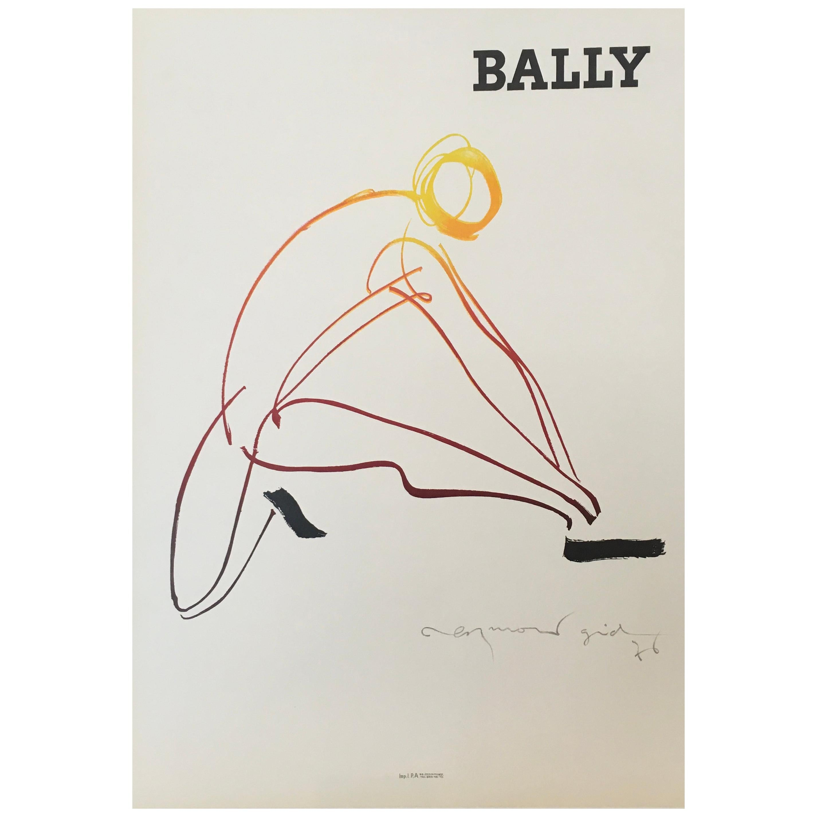 Bally Gid Homme, Small Format, Original Vintage Poster, 1976