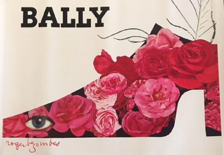 Late 20th Century Bally Plume Roger Bezombes Original Vintage Poster For Sale