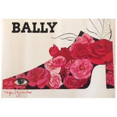Bally Plume Roger Bezombes Original Vintage Poster