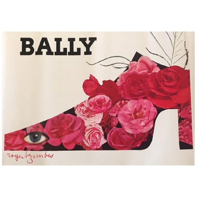 Bally Plume Roger Bezombes Original Vintage Poster For Sale