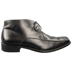 BALLY Size 9 Black Leather Chukka Lace Up Shoes / Ankle Boots