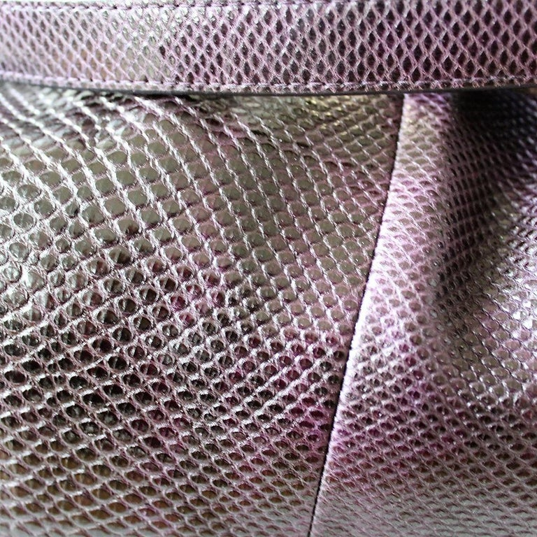 Bally Violet Lizard Bag In Excellent Condition For Sale In Gazzaniga (BG), IT