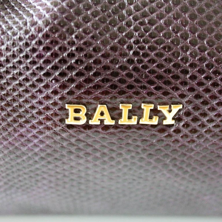 Women's Bally Violet Lizard Bag For Sale