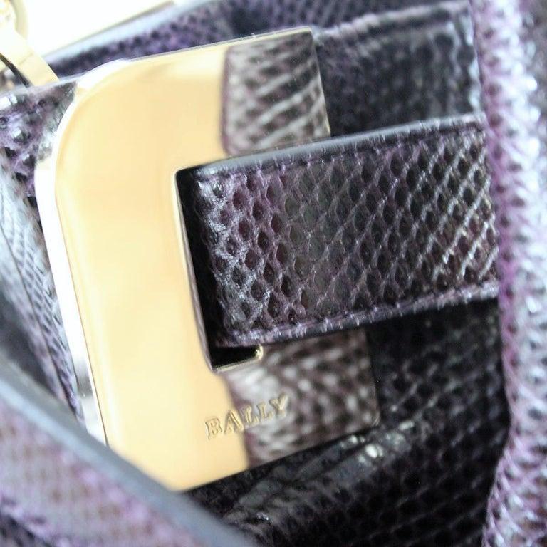 Bally Violet Lizard Bag For Sale 1