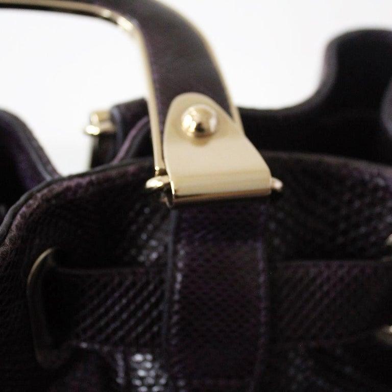 Bally Violet Lizard Bag For Sale 2