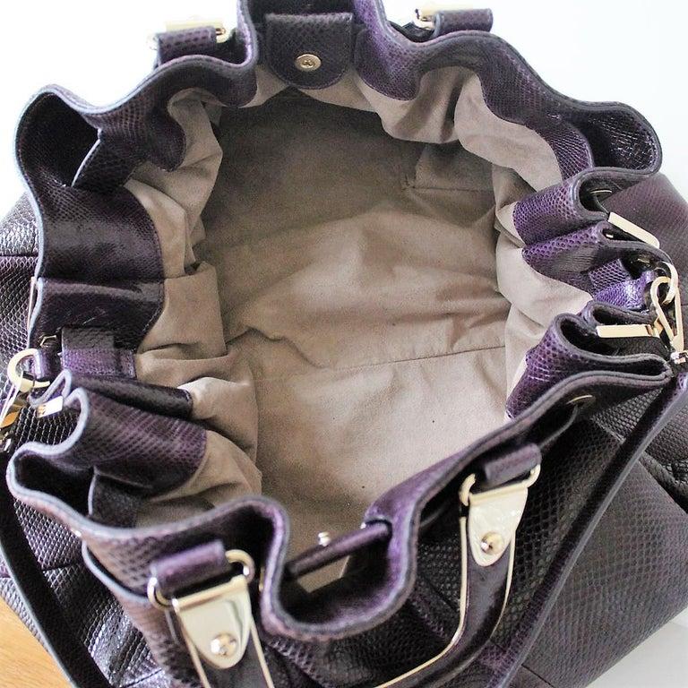 Bally Violet Lizard Bag For Sale 3