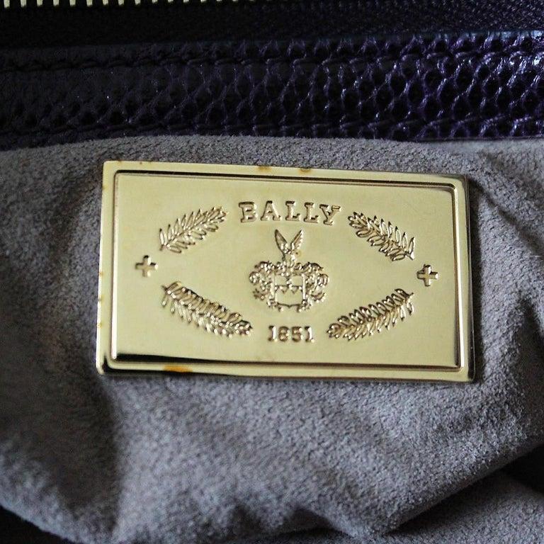 Bally Violet Lizard Bag For Sale 4