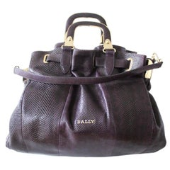 Bally Violet Lizard Bag
