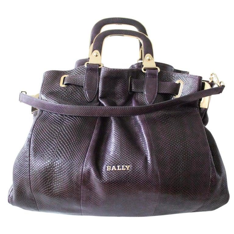 Bally Violet Lizard Bag For Sale