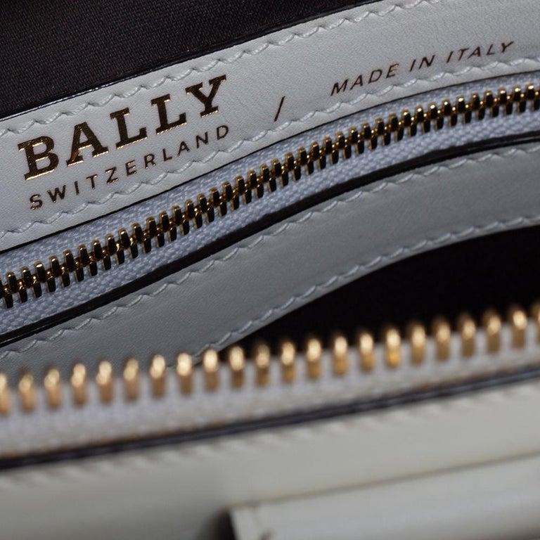 Bally White Lip Print Leather Berkeley Double Zip Tote 2