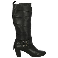 Bally Woman Boots Black Leather IT 40