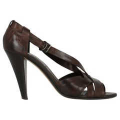 Bally Woman Sandals Brown Leather IT 40