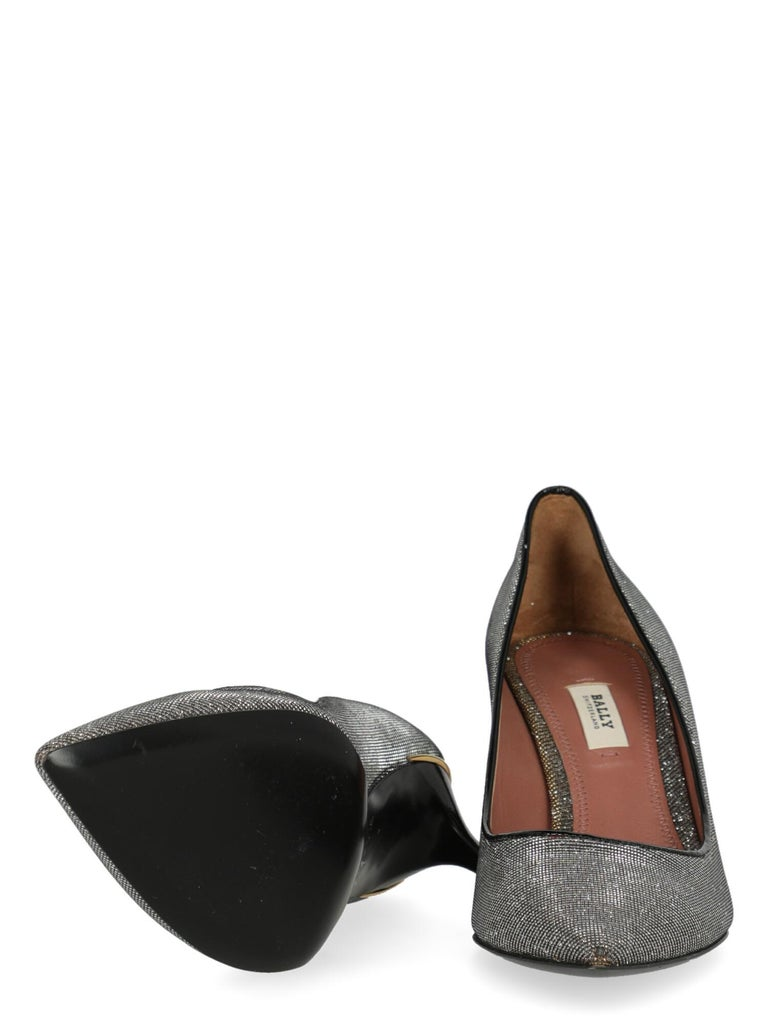 Bally  Women   Pumps  Metallic Synthetic Fibers EU 37 In Excellent Condition For Sale In Milan, IT