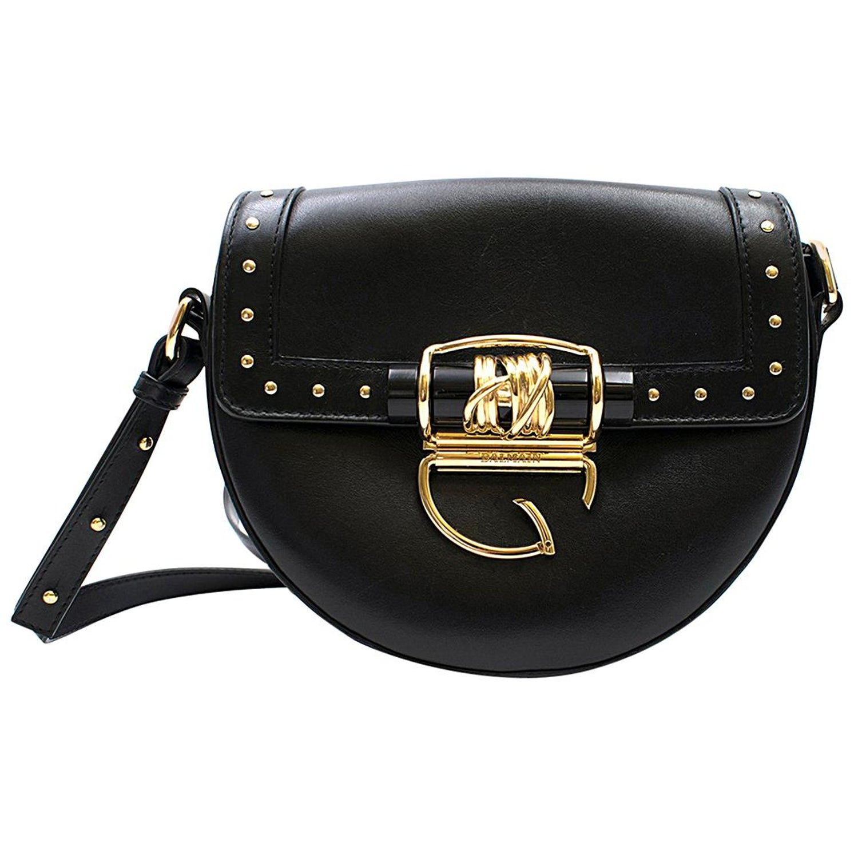 5365709cf13bed Balmain 44-18 Glove Black Leather Crossbody Bag w/Studs For Sale at 1stdibs