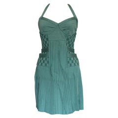 Balmain Aqua Green Cocktail Dress IT 40