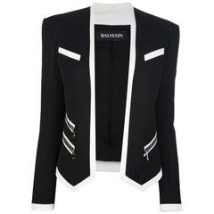 Balmain Bi-Tone Open Blazer Jacket