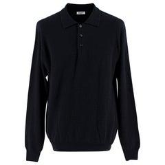 Balmain Black Cashmere Polo Jumper - Size L