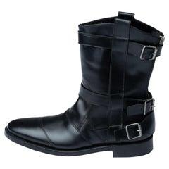 Balmain Black Leather Boots for Men (43 EU/10 US)