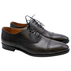 Balmain Black Leather Men's Derbies - Size EU 44