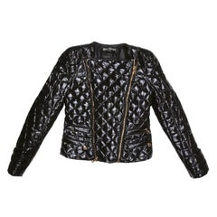 BALMAIN Black Perfecto Down Jacket Size 38FR