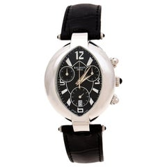 Balmain Black Stainless Steel Excessive Chronograph 5831 Womens Wristwatch 32 mm
