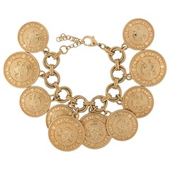 Balmain Coin Embellished Charm Bracelet