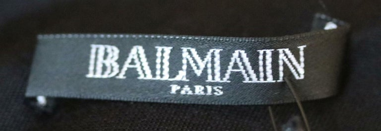 Balmain Crystal Embellished Wrap Jersey Gown In New Condition For Sale In London, GB