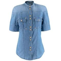 Balmain Denim Short Sleeve Shirt 36