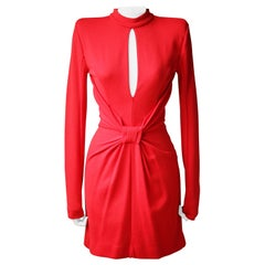 Balmain Draped Wool-Jersey Mini Dress