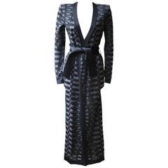 Balmain Geometric Knit Coat