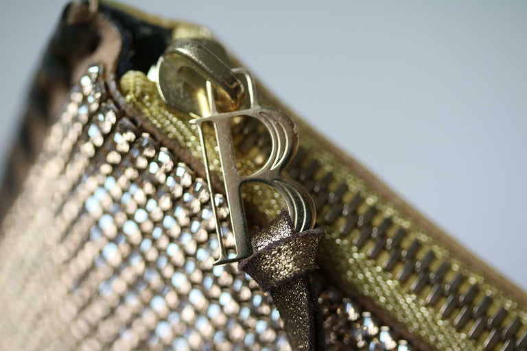 Black Balmain Gold Crystal Embellished Pouch Clutch For Sale
