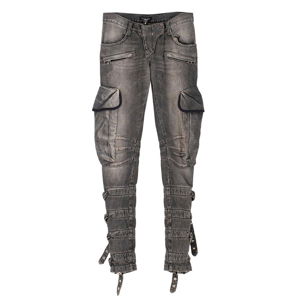 d4e659bcbca BALMAIN hologram effect lambskin leather pants at 1stdibs