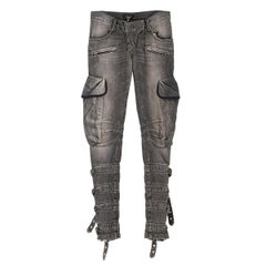 Balmain Grey Buckle Detailed Jeans IT 36