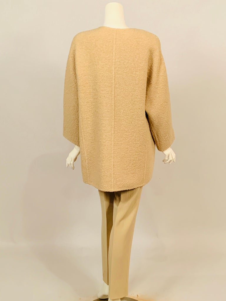 Women's Balmain Haute Couture Jacket in Double Faced Wool and Pants in Herringbone Wool For Sale
