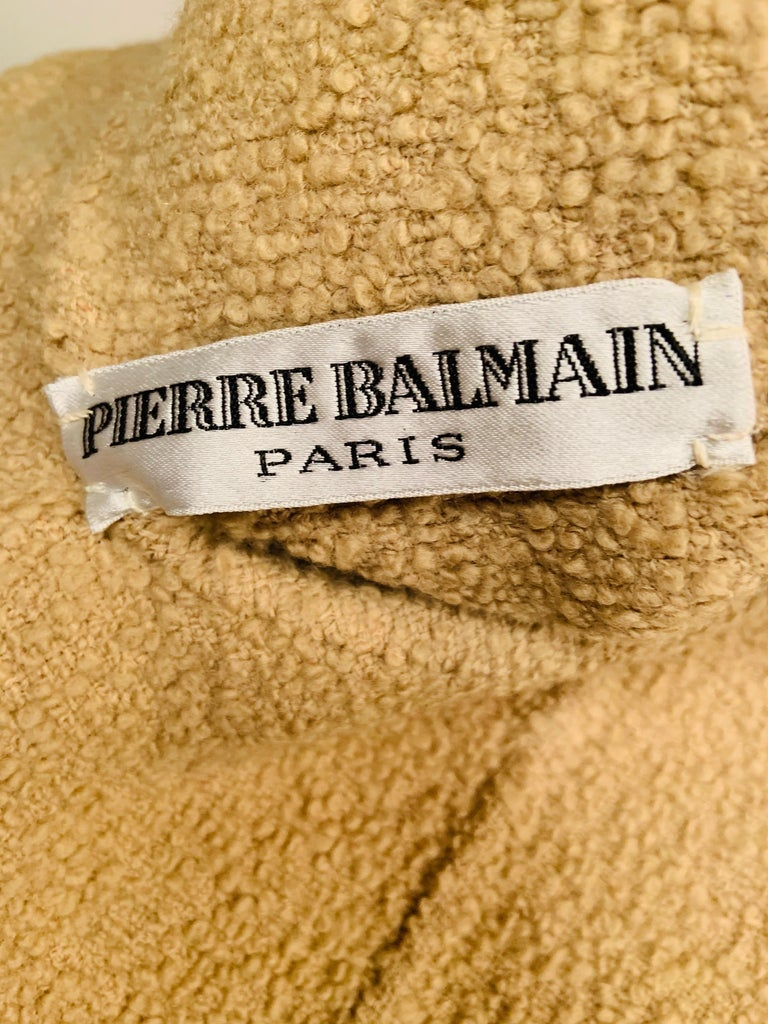 Balmain Haute Couture Jacket in Double Faced Wool and Pants in Herringbone Wool For Sale 3